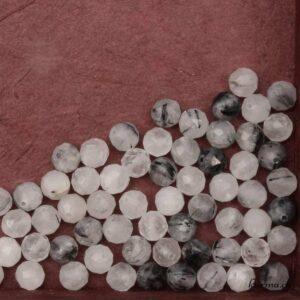 Quartz Tourmaline perles