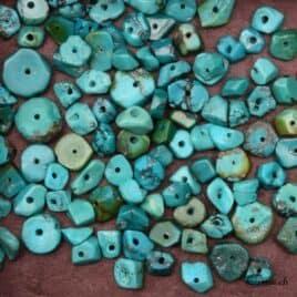 Achat turquoise en perles