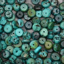 Magasin de perles turquoise