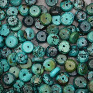 Turquoise perles