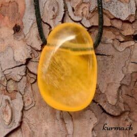calcite orange pendentif