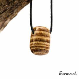 Aragonite brune en pendentif