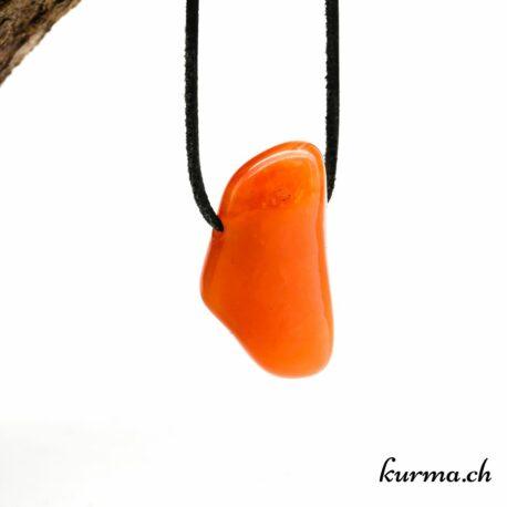 Agate abricot en pendentif