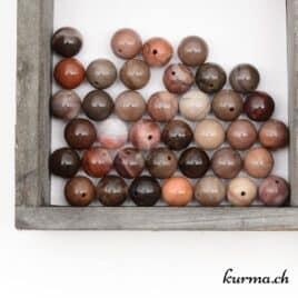 Perles Bois fossilisé 10mm