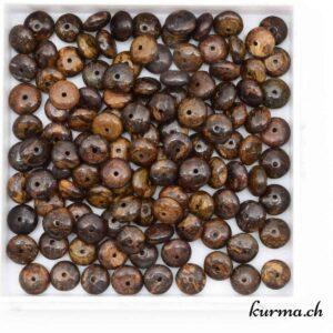 Perles donuts bronzite 6mm