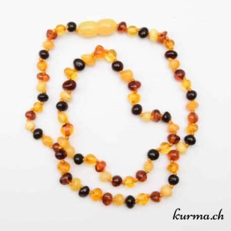 acheter une collier en Perles d'ambre mix