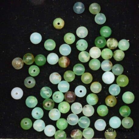 perles opale verte des andes 6mm