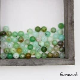perles Opale kiwi 7mm