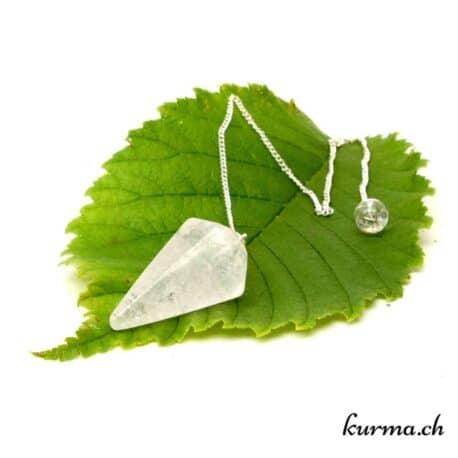 Pendule en cristal de roche facette