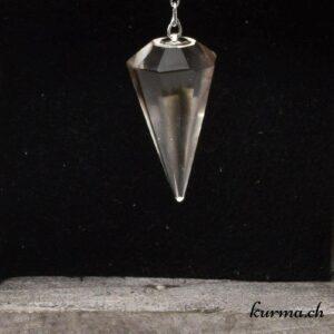 Pendule Cristal de roche 10 facettes