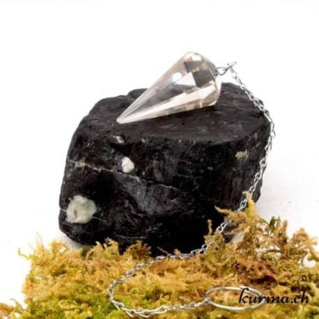 acheter un pendule octogone en cristal de roche dans la boutique d'ésotérisme Kûrma