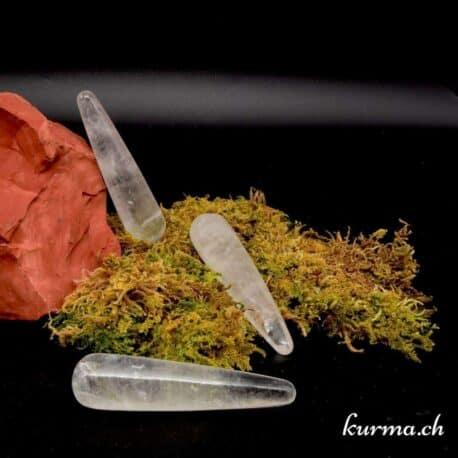 Bâton de massage Quartz cristal de roche
