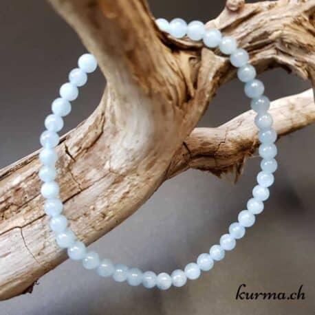 bracelet aigue marine perles femme