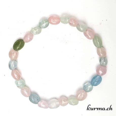bracelet femme aigue marine perles 6mm rose bleu vert femme bijoux