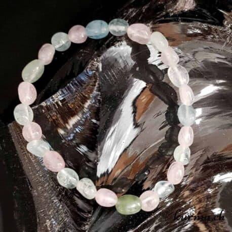 bracelet femme aigue marine perles rose bleu bijoux parure