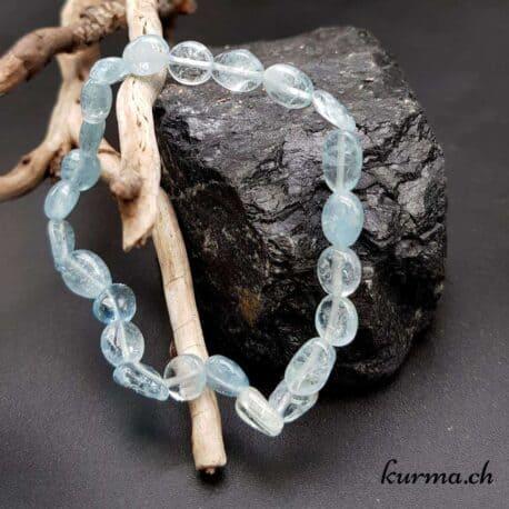 bracelet bijoux  aigue marine perles  bleu azur femme parure