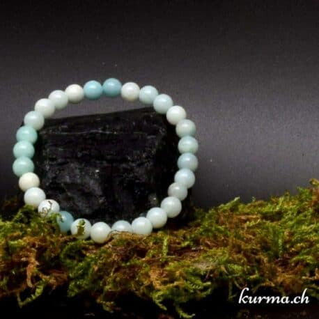 Bracelet Amazonite claire 7mm