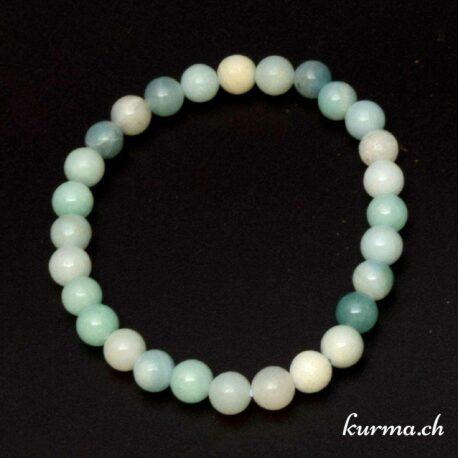 Bracelet en pierre d'Amazonite 6mm