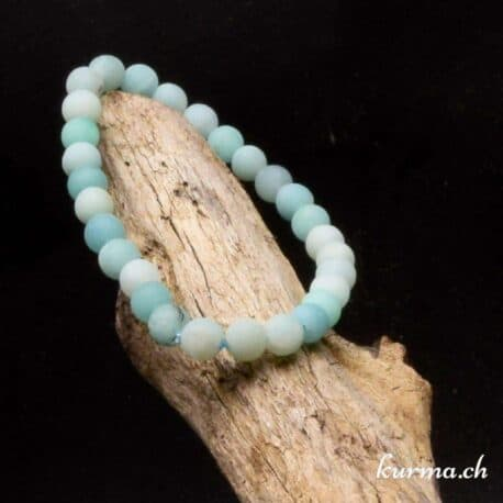 bracelet en perles amazonite matte 6mm