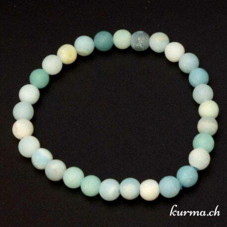 acheter un bracelet en amazonite matte 6mm dans la boutique en ligne Kûrma