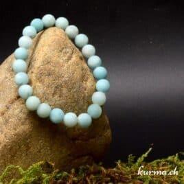 Bracelet en perles amazonite matte 8mm