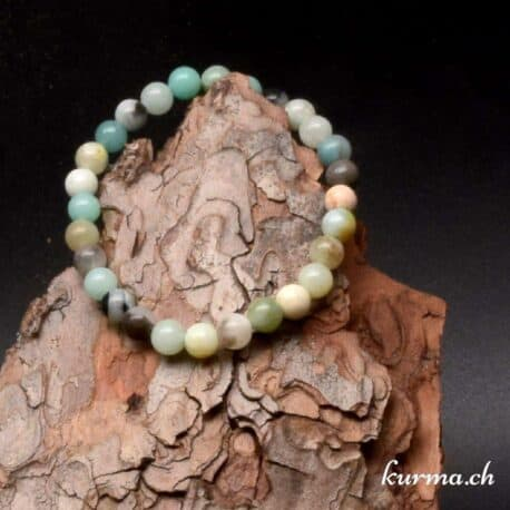 bracelet en amazonite multicolors 6mm