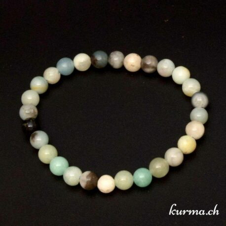 Bracelet en perles d'amazonite naturel 6mm