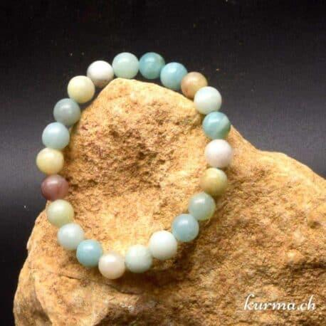 Bracelet en pierre naturel d'amazonite 8mm