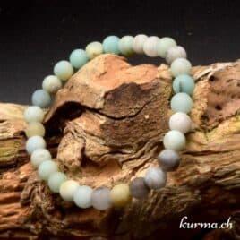 bracelet en amazonite matte 6mm