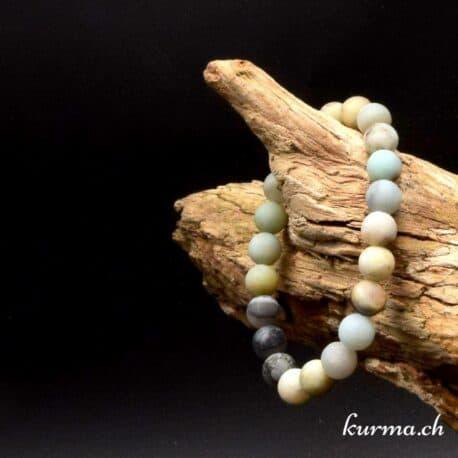Amazonite matte en perles de 6mm monté en bracelet