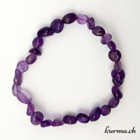 bracelet de perles en améthyste femme violet homme  bijou