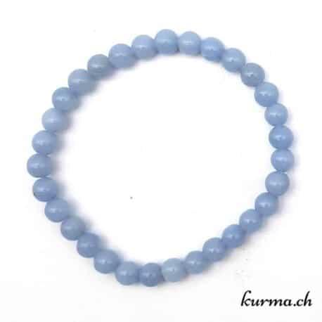 bracelet d'angélite bleu femme homme pierre angel stone lithothérapie