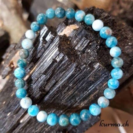 Bracelet en Apatite bleue 6mm