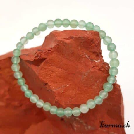 bracelet en aventurine verte pour les enfants lithothérapie ouverture coeur et conscience yeux foie peau