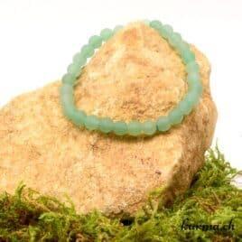 bracelet en aventurine verte matte