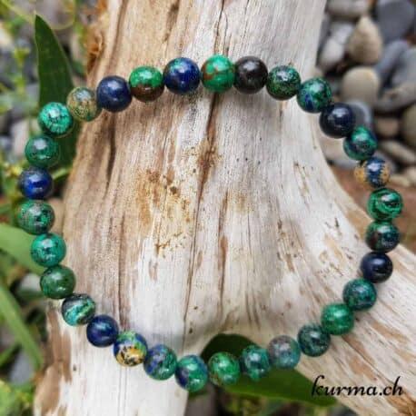 bracelet en azurite pierre homme femme pierre cristaux articulations troisième oeil, lithothérapie