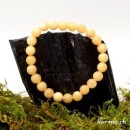 bracelet en calcite jaune 8mm