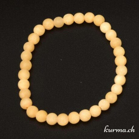 calcite jaune naturel en bracelet