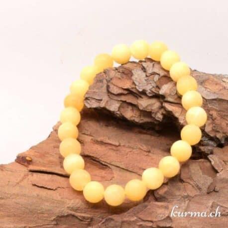 Bracelet Calcite jaune mate 8mm