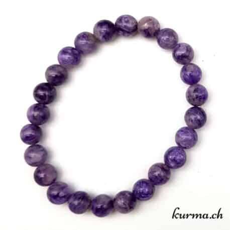 bracelet charoïte homme lithothérapie perles gemmes ornement bijou
