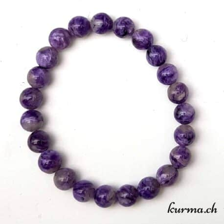 charoïte perles  bracelet homme violet boules troubles du sommeil sérénité
