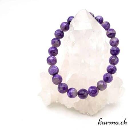 bracelet perles charoïte violet lithothérapie bien être soins régime toxines rythme cardiaque oeil