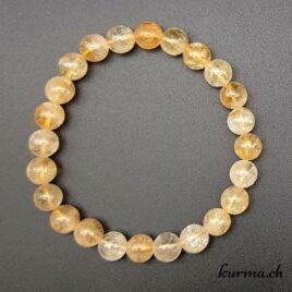 Bracelet Citrine femme 8mm