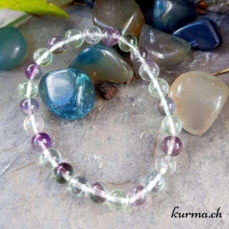 bracelet en perles de fluorite lithothérapie shop boutique homme femme bijou pierres semi précieuses bien être soins