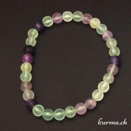 bracelet 6mm en fluorite