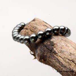 bracelet en perles d'hématite naturel