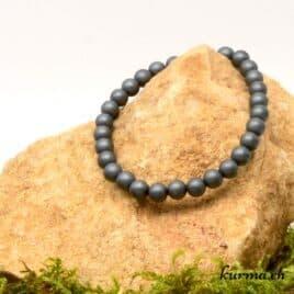 Bracelet Hématite mate – 6-6,5mm – N°8918