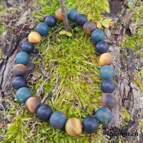 bracelet de perles héliotrope