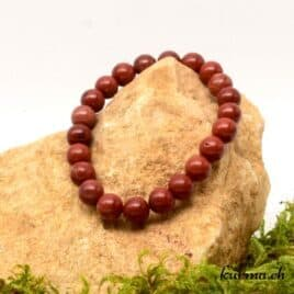 bracelet en perles de jaspe rouge