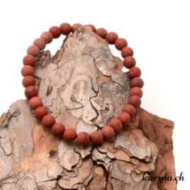 Bracelet Jaspe rouge mat 6mm
